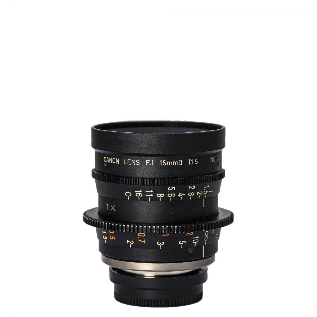 15mm lens Canon EJ T1.5 B4-mount