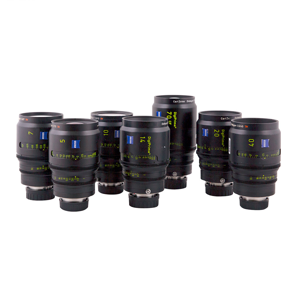 SET Carl Zeiss DigiPrime Distagon T1.6-T1.9 5,7,10,14,20,40,70mm B4-mount